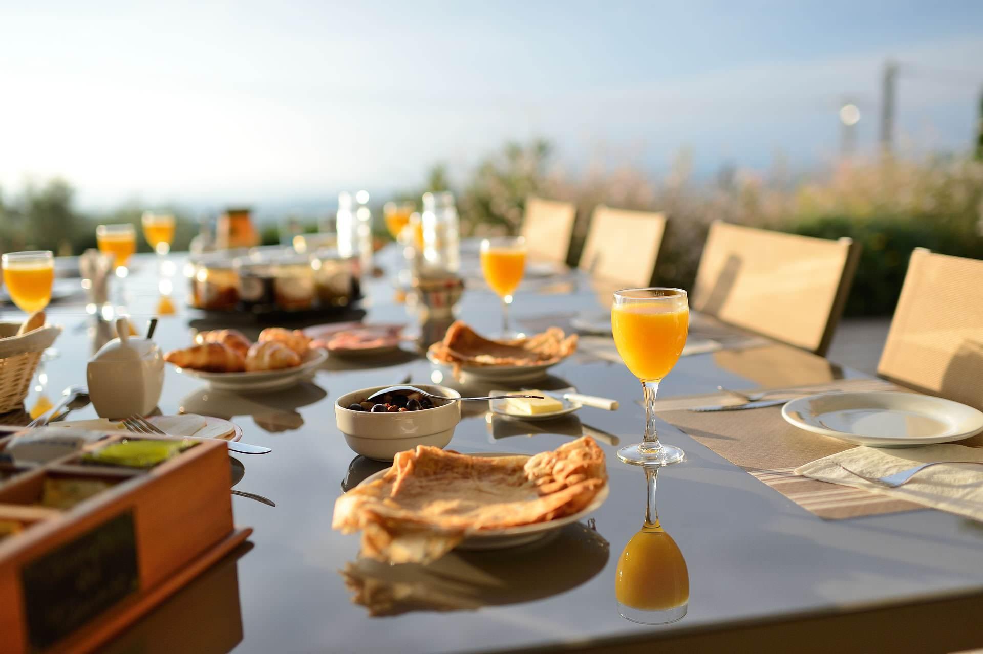 Petit déjeuner Maison d'hôtes Bleu Azur