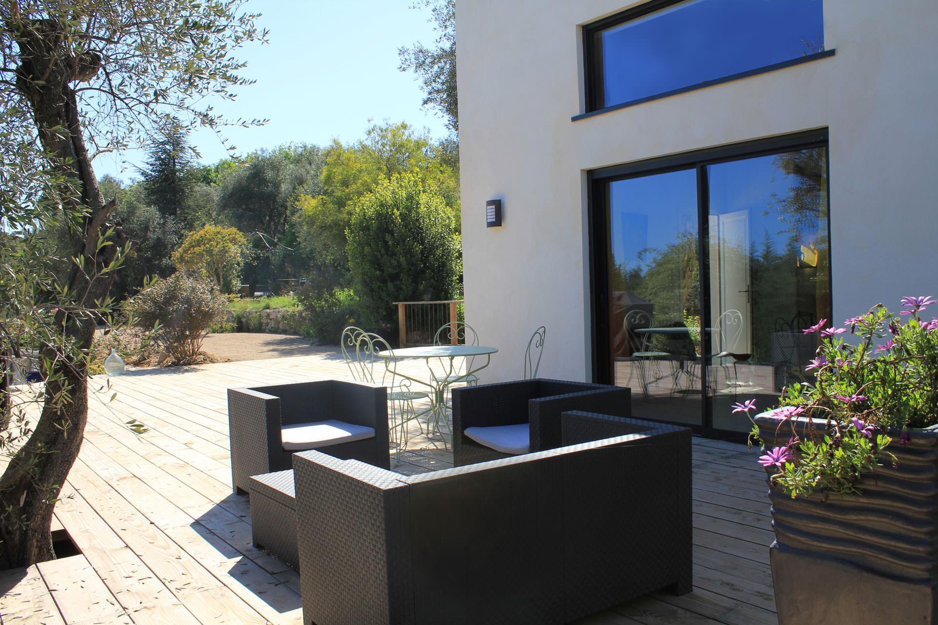 terrasse maison d'hôtes Bleu Azur