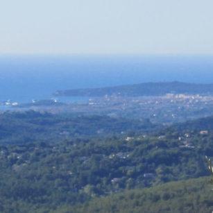 Vue sur la mer maison d'hôtes Bleu Azur