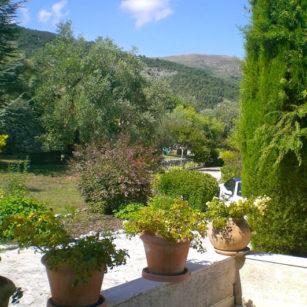 terrasse côté jardin Bleu Azur